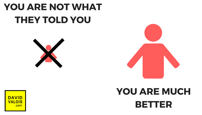 Eliminate false beliefs realizing you are not what they told you