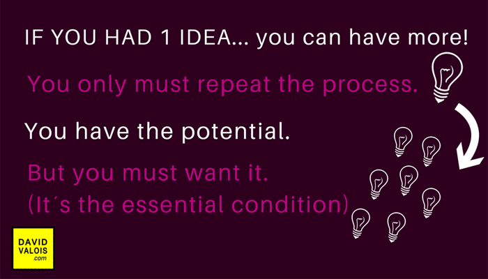 If you have one idea you can have many more